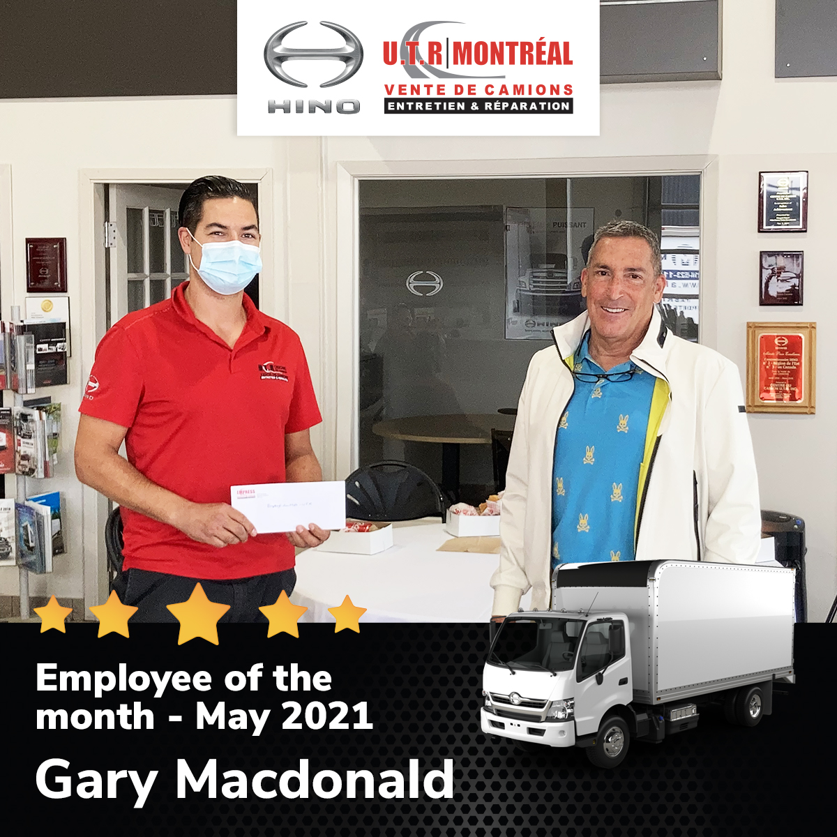 Employee of the month for May 2021